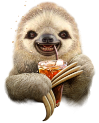 sloth & soft drink | Artistshot