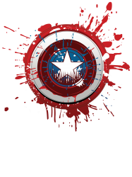 dadb0a73c60c3 Captain America Shield T-shirt Designed By Allstreet