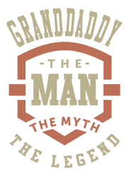 c669e207a1d968 Granddaddy The Myth The Legend T-shirt Designed By Cidolopez
