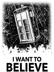 i want to believe tardis for light | Artistshot