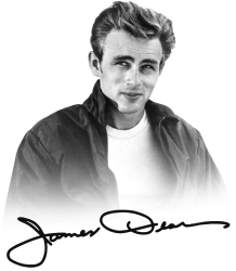 james dean with signature | Artistshot