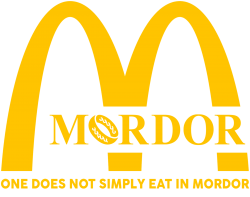 mordor one does not simply eat in mordor | Artistshot