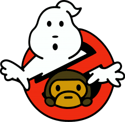 ghostbusters and bape   Artistshot