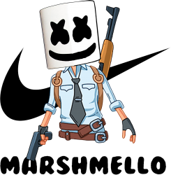 funny fornite marshmello and the gun | Artistshot