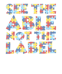 4a370ee7 Autism Awareness Month T Shirt See The Able Not The Label Zipper Hoodie  Designed By Hung