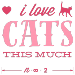 I Love Cats This Much T-shirt