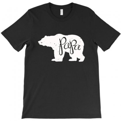Papa Bear T-shirt Designed By Milanacr