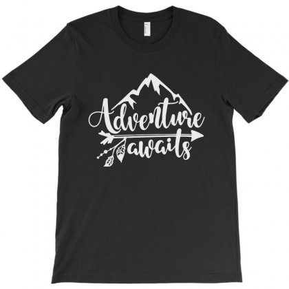 Adventure Awaits T-shirt Designed By Milanacr