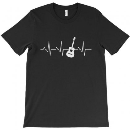 Acoustic Guitar Heartbeat T-shirt Designed By Milanacr