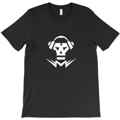 Dubstep Music Logo Skull T-shirt Designed By Enjang