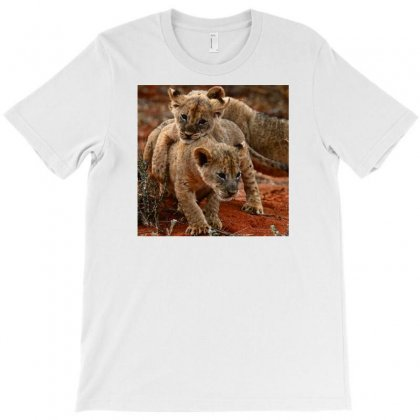 Baby Lion Playing T-shirt Designed By Hossam.elsherief