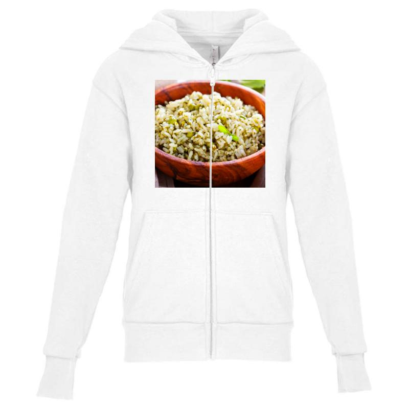 Plate Of Rise Youth Zipper Hoodie | Artistshot