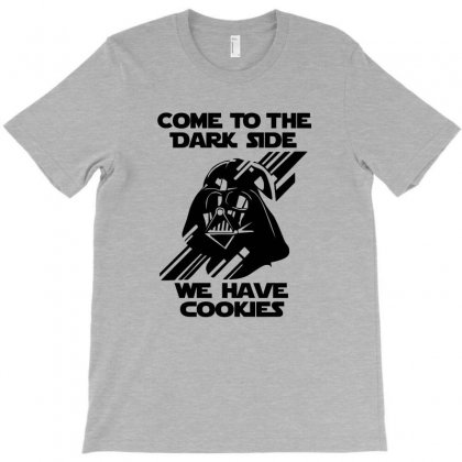 Come To The Dark Side We Have Cookie Black Print T-shirt Designed By Tshiart