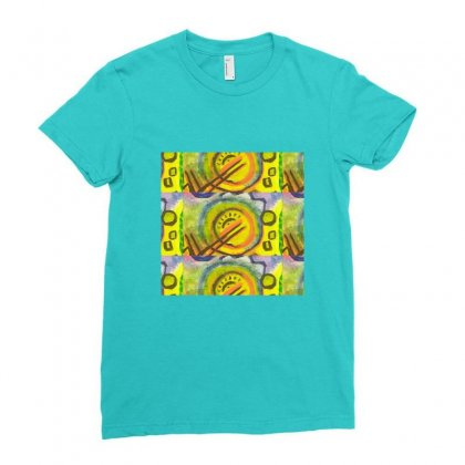 Original Art Ladies Fitted T-shirt Designed By Ami