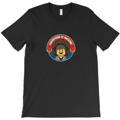 Everything Is Awesome   Mens Funny Lego T-shirt Designed By Funtee