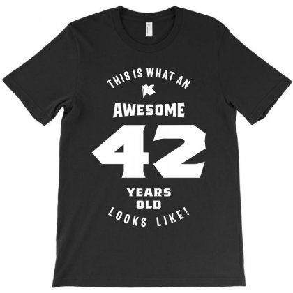 42 Years Old Birthday T-shirt Designed By Cidolopez
