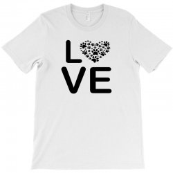 dog heart dog passion love red animals cool T-Shirt | Artistshot