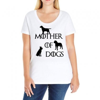 Mother Of Dogs Ladies Curvy T-shirt Designed By Omer Acar