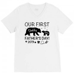 Our First Father's Day 2019 Family Matching V-Neck Tee | Artistshot