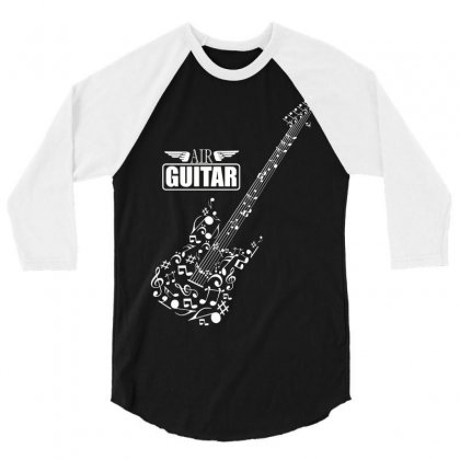 Air Guitar 3/4 Sleeve Shirt Designed By Yuh2105