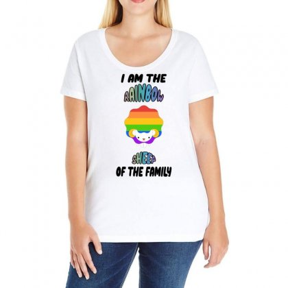 I Am The Rainbow Sheep Of The Family   Lgbt Ladies Curvy T-shirt Designed By Omer Acar