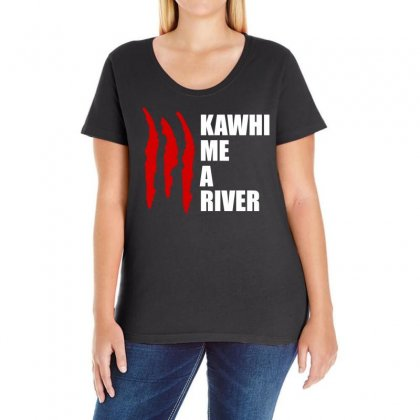Kawhi Me A River Ladies Curvy T-shirt Designed By Omer Acar