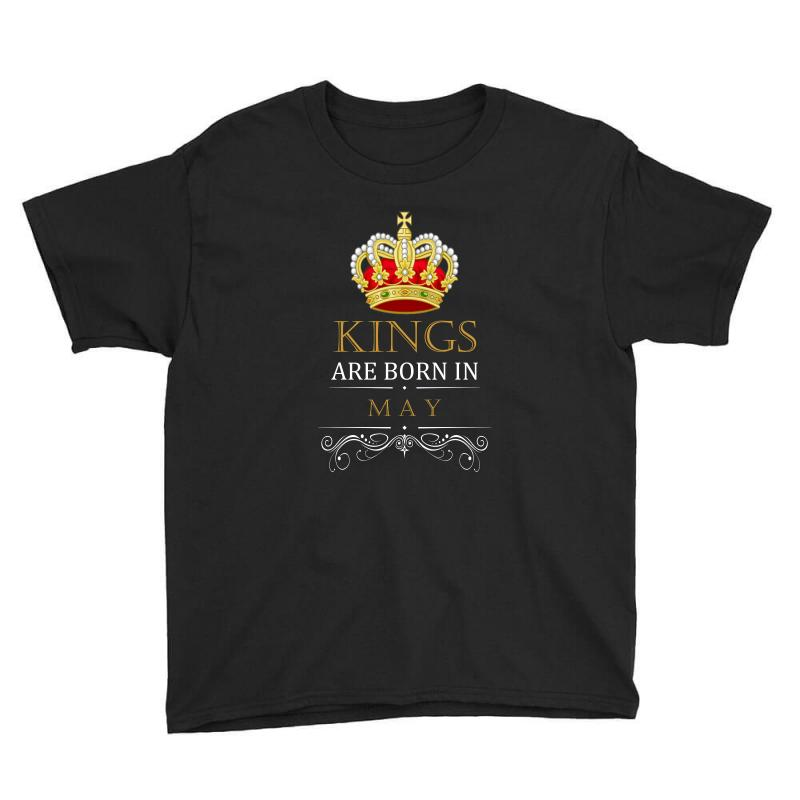 Kings Are Born In May Youth Tee | Artistshot