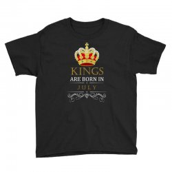 Kings Are Born in July Youth Tee | Artistshot