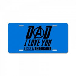 i love you 3000 three thousand times License Plate | Artistshot