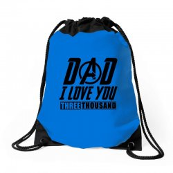 i love you 3000 three thousand times Drawstring Bags | Artistshot