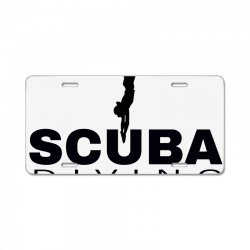 scuba diving 1 License Plate | Artistshot
