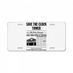 save the clock tower License Plate | Artistshot