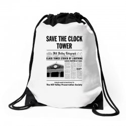 save the clock tower Drawstring Bags | Artistshot