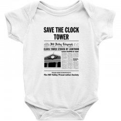 save the clock tower Baby Bodysuit | Artistshot