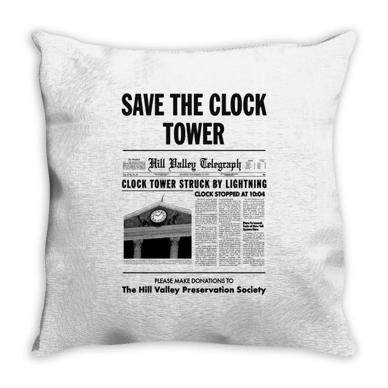 Save The Clock Tower Throw Pillow | Artistshot
