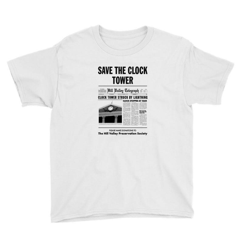 Save The Clock Tower Youth Tee | Artistshot