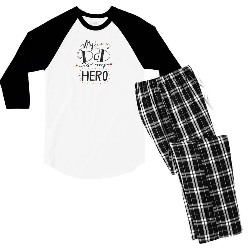 Father's Day Special Men's 3/4 Sleeve Pajama Set | Artistshot