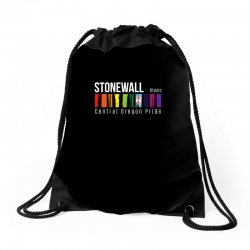 stonewall 50 years central oregon pride Drawstring Bags | Artistshot