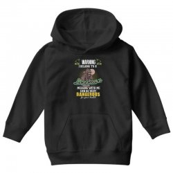 warning i belong to a lineman messing with me can be very dangerous fo Youth Hoodie | Artistshot