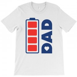 I love my Dad creative charger icon T-Shirt | Artistshot