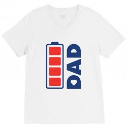I love my Dad creative charger icon V-Neck Tee | Artistshot