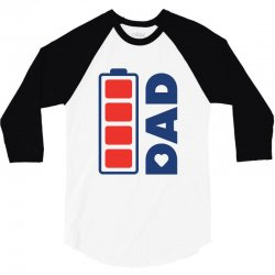 I love my Dad creative charger icon 3/4 Sleeve Shirt | Artistshot