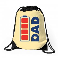 I love my Dad creative charger icon Drawstring Bags | Artistshot