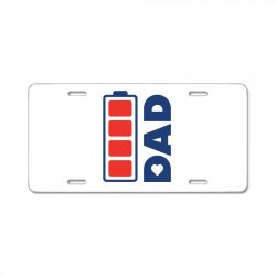 I love my Dad creative charger icon License Plate | Artistshot