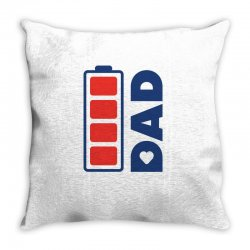 I love my Dad creative charger icon Throw Pillow | Artistshot