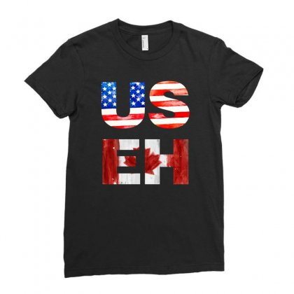 Useh America Canada Ladies Fitted T-shirt Designed By Sengul