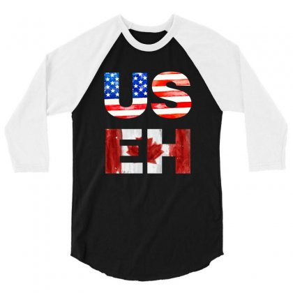 Useh America Canada 3/4 Sleeve Shirt Designed By Sengul