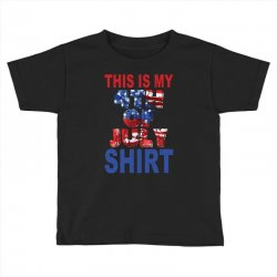 this is my 4th of july shirt Toddler T-shirt | Artistshot