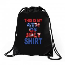 this is my 4th of july shirt Drawstring Bags | Artistshot