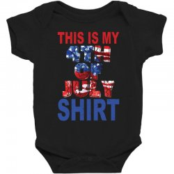 this is my 4th of july shirt Baby Bodysuit | Artistshot